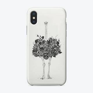 Floral ostrich  iPhone Case