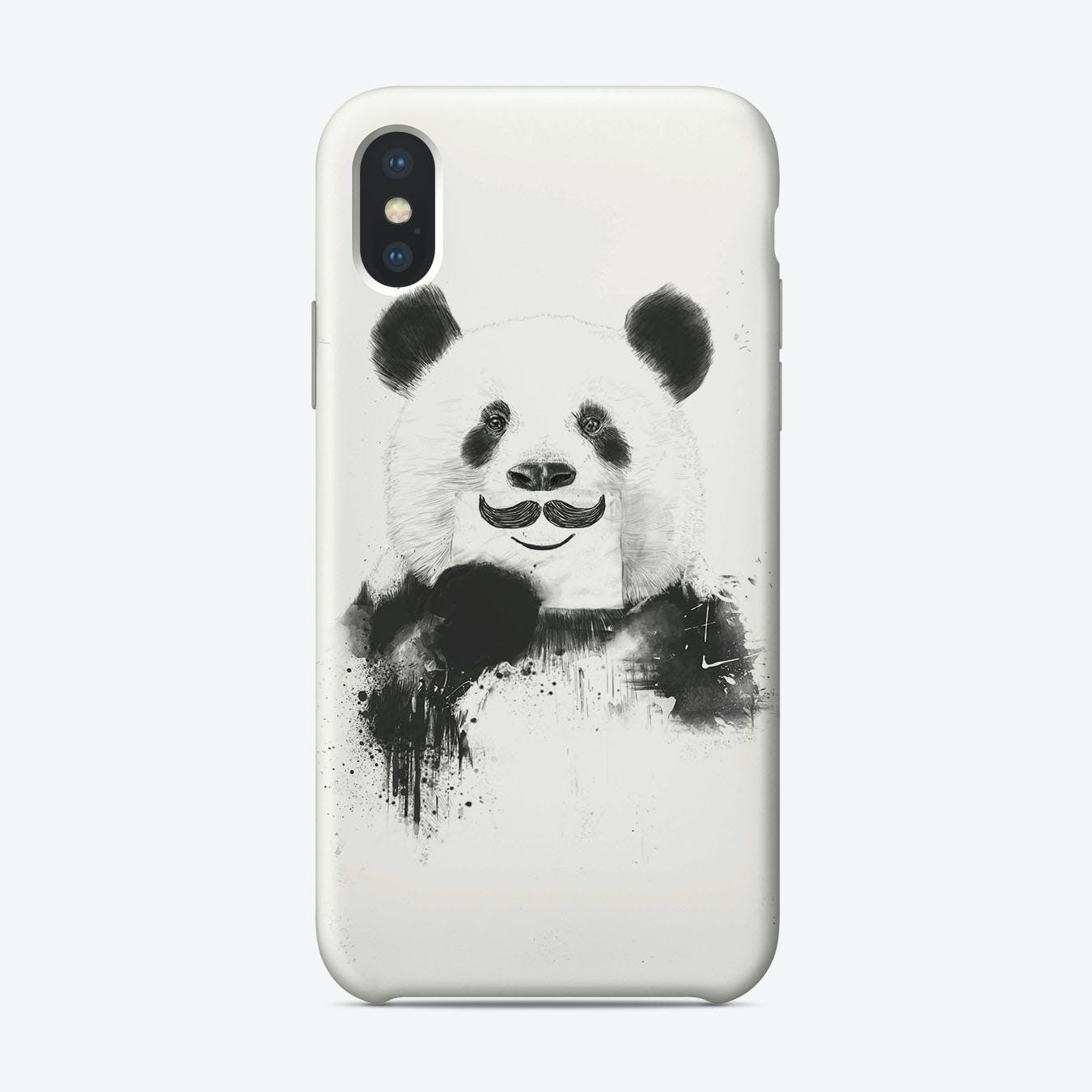 Funny panda  iPhone Case
