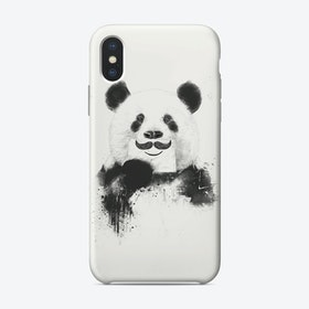 Funny panda  iPhone Case