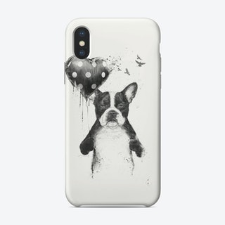 My heart goes boom  iPhone Case