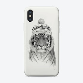 Siberian tiger (bw)  iPhone Case