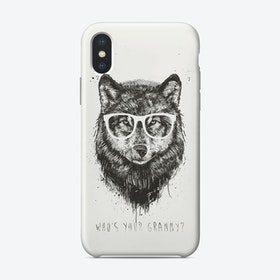 Who's your granny (bw)  iPhone Case