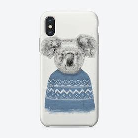 Winter koala (blue)  iPhone Case