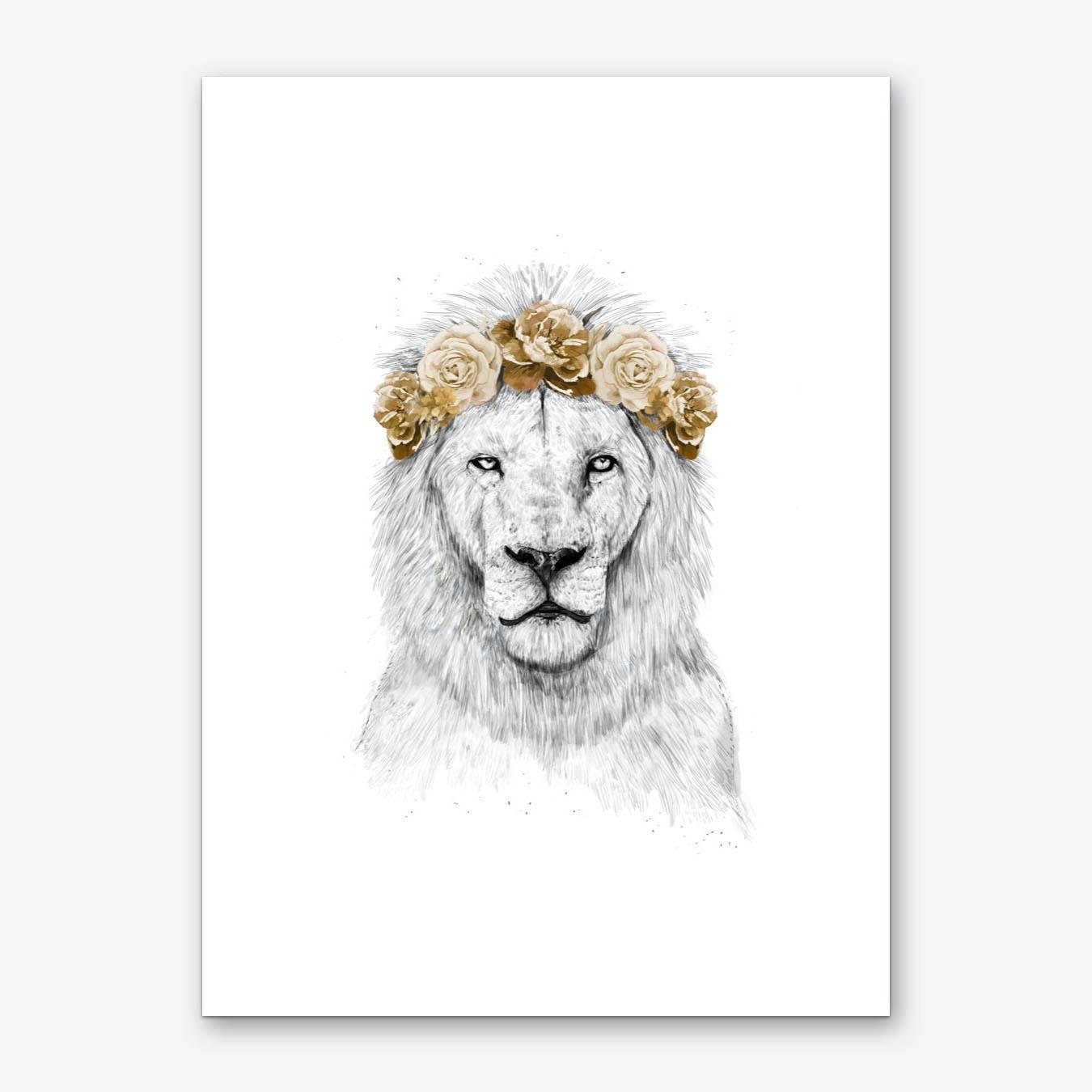 Festival lion II Art Print