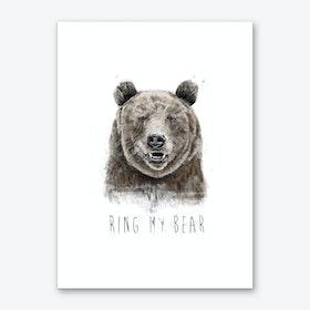 Ring my bear Art Print
