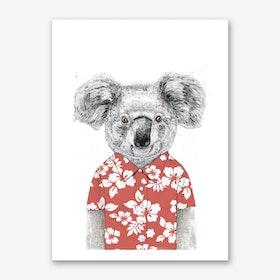 Summer koala Art Print
