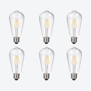 Dimmable Light Bulbs - Set of 6