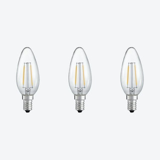 Dimmable LED Candle Light Bulbs - Set of 3