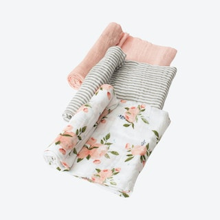 Watercolor Roses Muslin Swaddle Set - Cotton - Set of 3