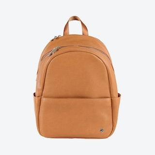 Skyline Backpack - Cognac - Vegan Leather