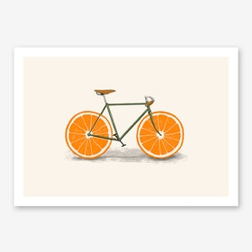 Orange Wheels Print