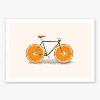 Orange Wheels Art Print