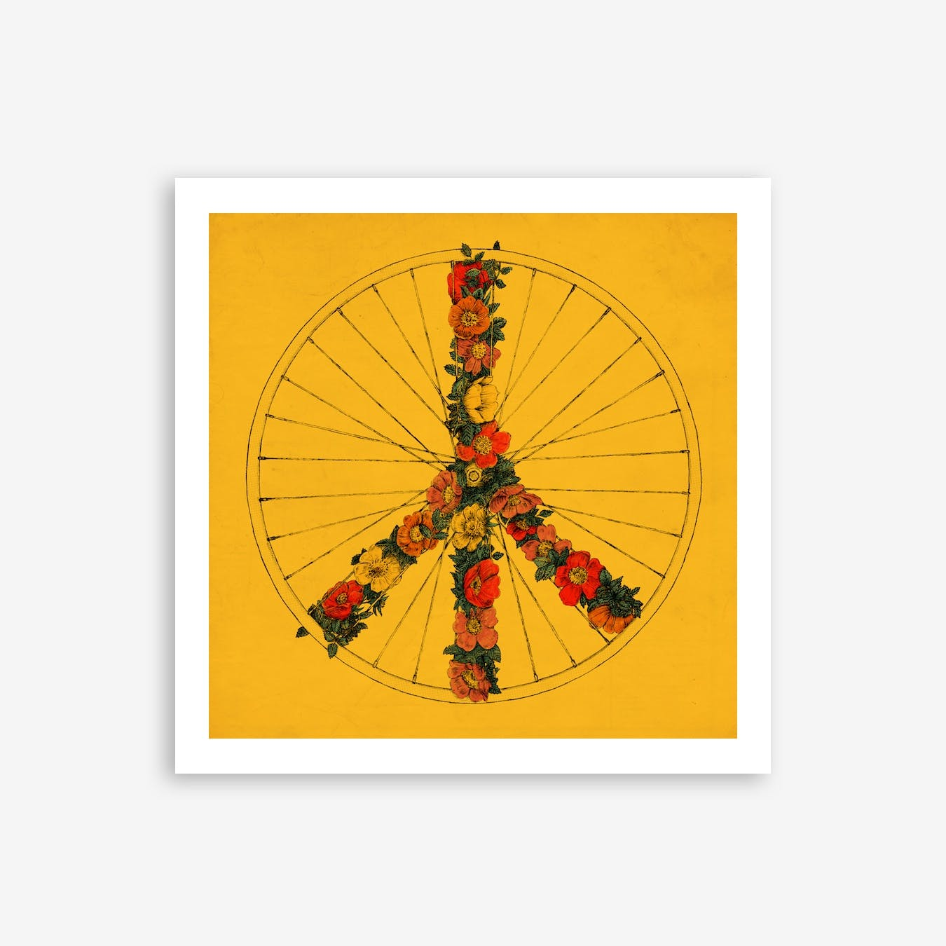 Peace and Bike In Colour Print
