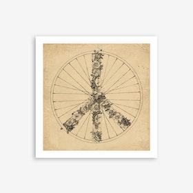 Peace and Bike Art Print