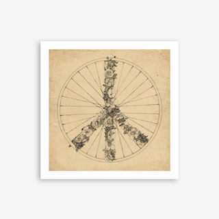 Peace and Bike Art Print