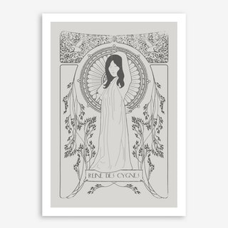 Reine Des Cygnes In Grey Art Print