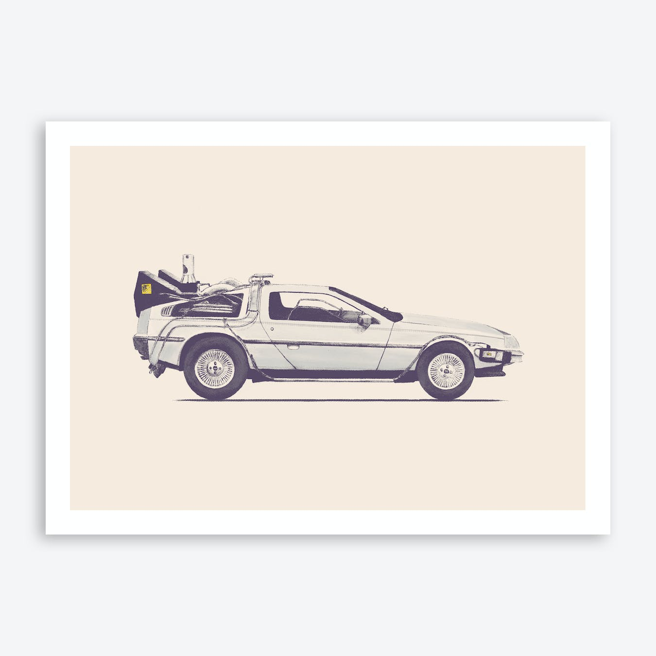 Delorean Art Print