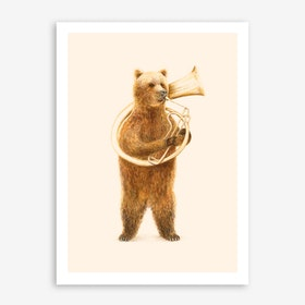 The Bear And His Helicon Print