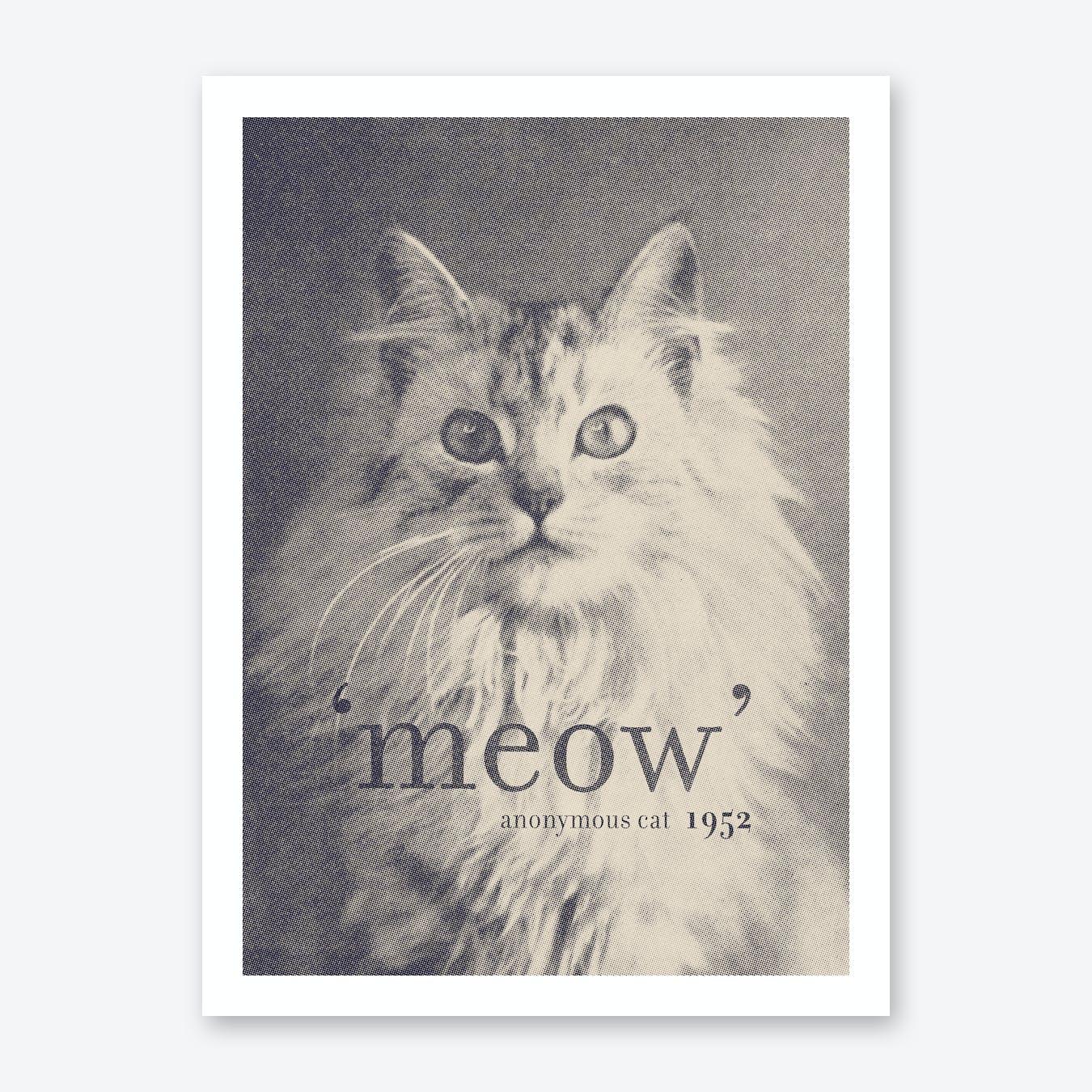 Famous Quotes Cat Art Print