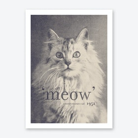 Famous Quotes Cat Art Print