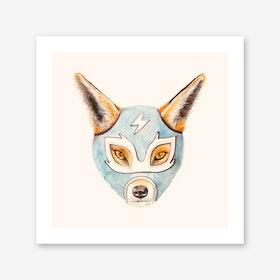 Andrew the Fox Wrestler Art Print