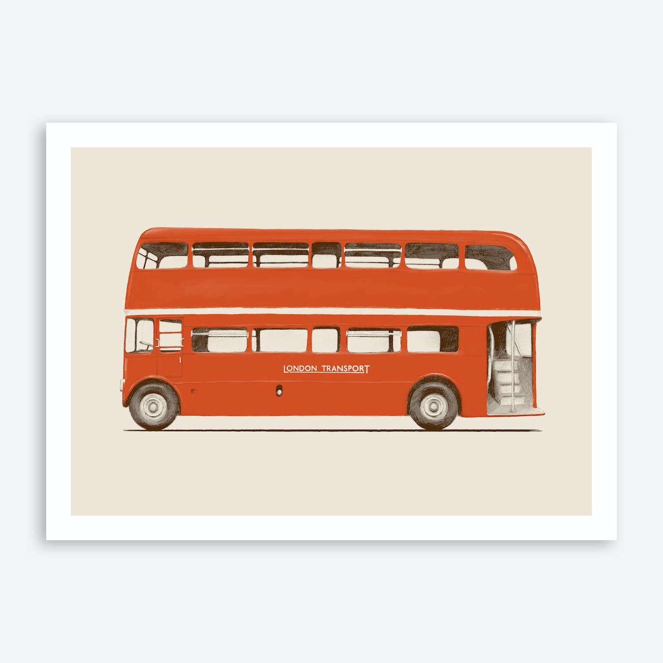 London Bus Art Print