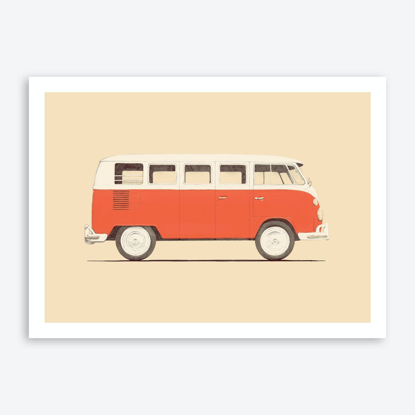 Red Van Art Print