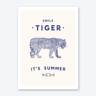 Smile Tiger Art Print