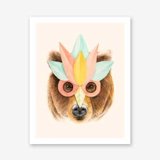 Bear Paper Mask Art Print