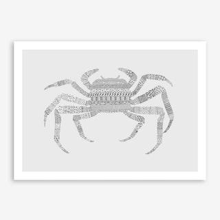 Grey Crab Art Print