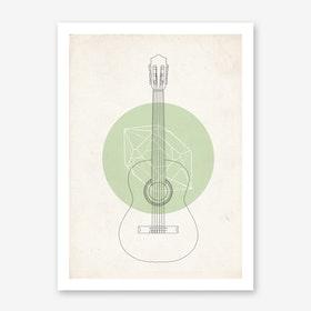 Guitar Geo Art Print