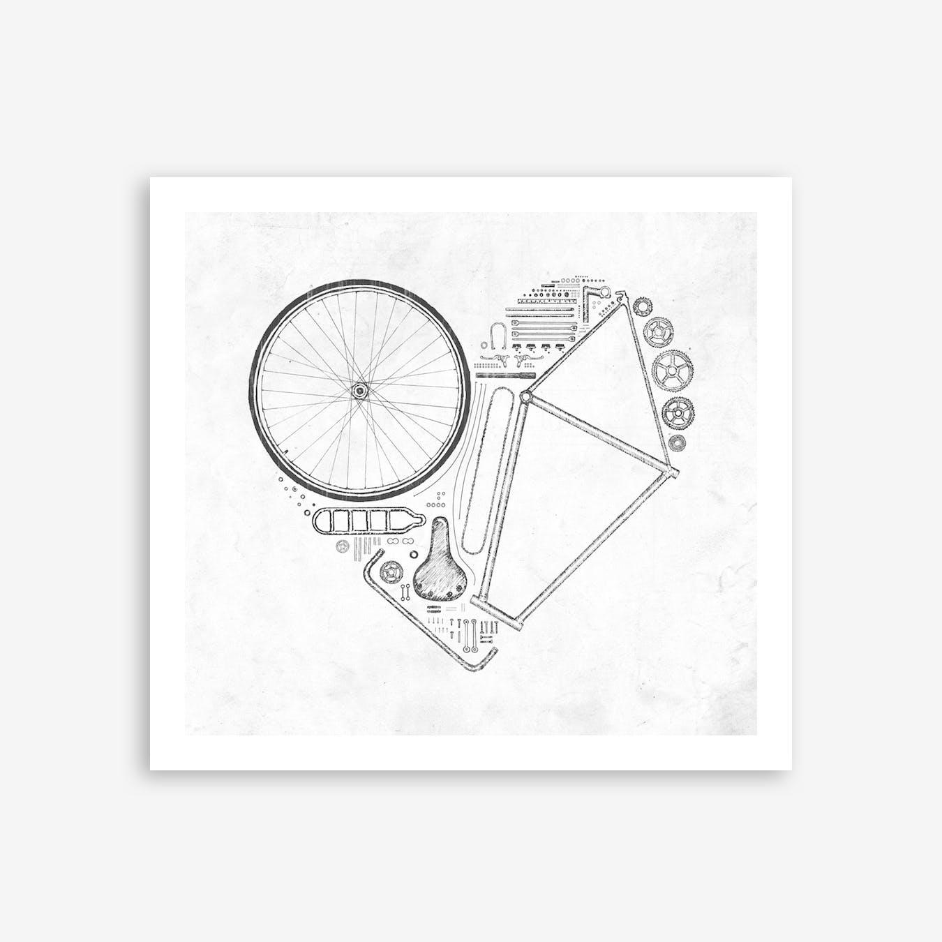 Love Bike 1 Print