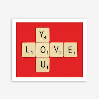 Love You Bodart Print