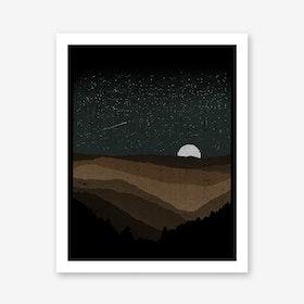 Moonrise Sepia Art Print