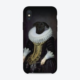 Anouk Dog Renaissance Portrait iPhone Case
