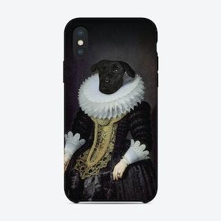 Anouk Dog Renaissance Portrait iPhone Case