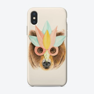 Bear Paper Mask iPhone Case
