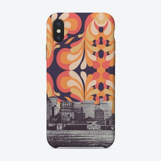 Colorful Skies above New York iPhone Case