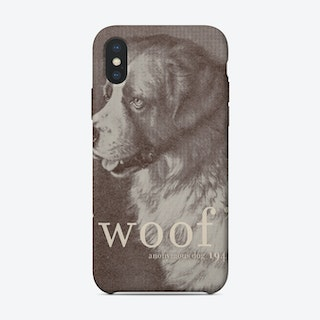 Woof - Famous Quote Dog iPhone Case