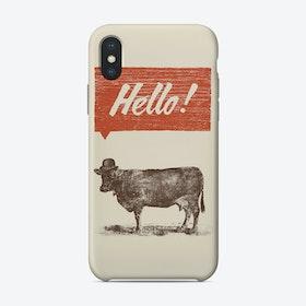 Hello Cow iPhone Case