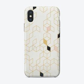 Keziah Scandinavian Pattern - Gold iPhone Case