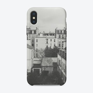 Paris Black and White photography iPhone Case
