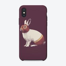 Rabbit Wrestler iPhone Case