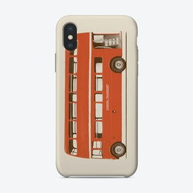Red English Bus iPhone Case