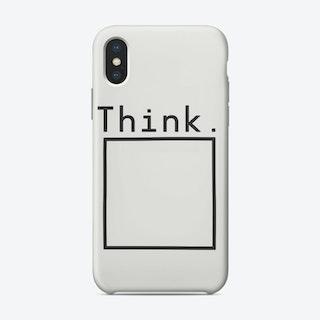 Think - Minimalist iPhone Case