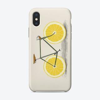 Zest - Lemon Bike iPhone Case