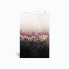 Pink Sky Greetings Card