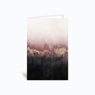 Pink Sky Greetings Card