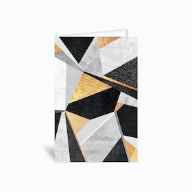 Geometry Gold Greetings Card