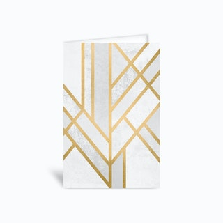 Art Deco Geometry II Greetings Card